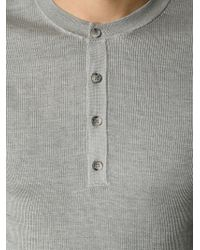 Dolce & Gabbana | Gray Fitted Ribbed Sweater for Men | Lyst