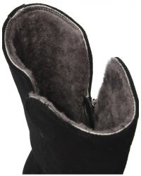 Jules B - Black Shearling Lined Suede Boots for Men - Lyst