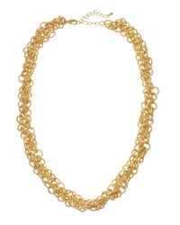 Fragments | Metallic Golden Multi-ring Link Necklace | Lyst