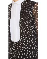 Giambattista Valli | Black Long Sleeve Blouse | Lyst