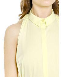 Vionnet - Yellow Silk Tulle Cotton Poplin Long Dress - Lyst