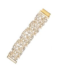 kate spade new york | Metallic Goldtone Mini Bouquet Mesh Bracelet | Lyst