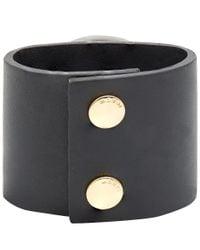 Marni | Large Black Resin Stone Cuff Bracelet | Lyst