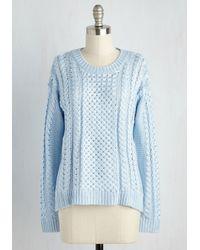 Mak   Blue Tranquil Teachings Sweater   Lyst