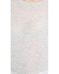 Vince - Gray Deep Raglan Sweater Chambray - Lyst