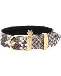Just Don - Multicolor Studded Python Bracelet for Men - Lyst