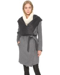 SOIA & KYO - Gray Samia Coat - Grey - Lyst