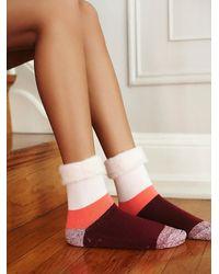 Free People - Orange Womens Fireside Slipper Sock - Lyst