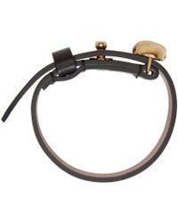 Alexander McQueen - Black Leather Skull Bracelet - Lyst