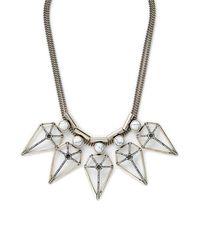 Rebecca Minkoff | Metallic Boho Blade Statement Necklace | Lyst