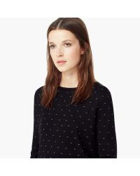 Mango | Black Polka-dot Pattern Sweater | Lyst