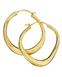 Dinny Hall - Metallic Small Gold-plated Wave Hoop Earrings - Lyst