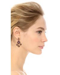 Miguel Ases | Scallop Drops Earrings Pink Multi | Lyst