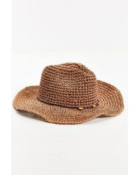 Urban Outfitters - Brown Knotted Straw Hat for Men - Lyst