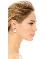 Kenneth Jay Lane - Multicolor Crystal Earrings - Clear Multi - Lyst