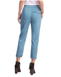 BOSS Orange | Blue Trousers 'Simiss3-D' In A Lyocell Blend By | Lyst