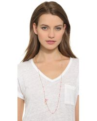 Chan Luu | Pink Beaded Charm Necklace - Neon Yellow Mix | Lyst
