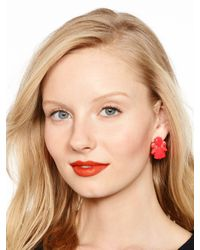 kate spade new york - Red Color Pop Statement Studs - Lyst