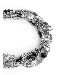 Assad Mounser | Metallic Multi Chain Strass Necklace | Lyst