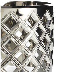 Karen Millen | Metallic Quilted Cuff | Lyst