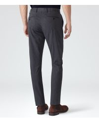 Reiss - Blue Shelter Cotton Trousers for Men - Lyst