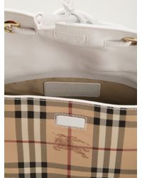 Burberry - Natural 'haymarket Check' Shoulder Bag - Lyst