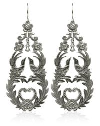 Laurent Gandini - Metallic Silver Primavera Earrings - Lyst