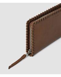 AllSaints - Brown Fleur De Lis Continental Wallet - Lyst