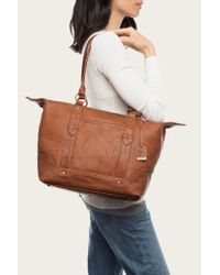 Frye - Brown Campus Zip Tote - Lyst