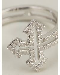Elise Dray | Metallic Rolled Cross Ring | Lyst