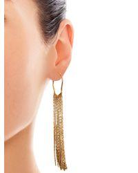 Diane von Furstenberg | Metallic Fringed Chain Earrings | Lyst