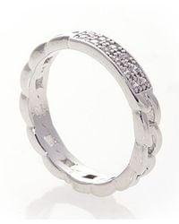 Noir Jewelry | Metallic Cara Pave Id Ring | Lyst