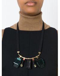 Marni - Black Multiple Pendant Necklace - Lyst