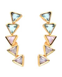 Katie Diamond Jewelry | Multicolor Kora Ear Climbers | Lyst