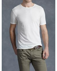 John Varvatos | White Cotton Crewneck for Men | Lyst