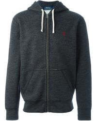 Polo Ralph Lauren | Gray Zipped Hoodie for Men | Lyst