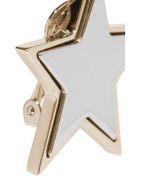 Givenchy - Metallic Star Earrings In Pale-gold And Silver-tone - Lyst