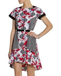 Peter Pilotto - Red Printed Crepe Dress - Lyst