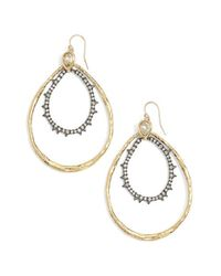 Alexis Bittar | Metallic Phoenix Crystal Double Hoop Earrings | Lyst