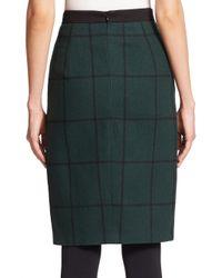 Akris Punto - Black Windowpane Zip-front Skirt - Lyst