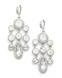 Givenchy | Metallic 'drama' Crystal Chandelier Earrings | Lyst