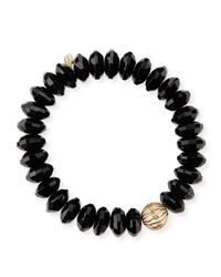 Sydney Evan - Black Design Your Own Bracelet (made To Order) - Lyst