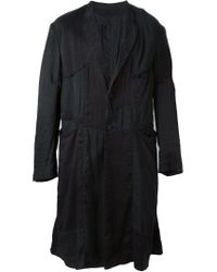 Ziggy Chen - Black Patchwork Coat for Men - Lyst