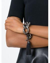 Lanvin | Black Large Link Chain Bracelet | Lyst