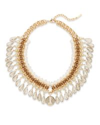 Saks Fifth Avenue | Metallic Beaded Teardrop Fringe Statement Necklace | Lyst