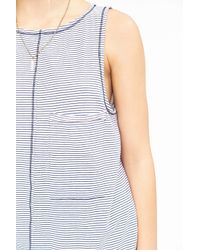 Truly Madly Deeply | Blue Oversized Pocket Tank Top | Lyst