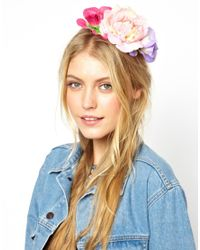 ASOS | Purple Pretty Flower Side Cluster Hair Band | Lyst
