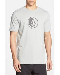 Volcom - Gray 'Stacking' Surf Crewneck T-Shirt for Men - Lyst