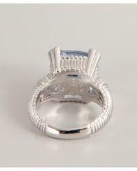 Judith Ripka | Metallic Blue Quartz And Diamond 'Fontaine' Ring | Lyst