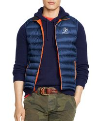 Ralph Lauren - Blue Polo Rlx Explorer Down Vest for Men - Lyst